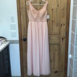 David's Bridal Beaded Top Dress - brand new